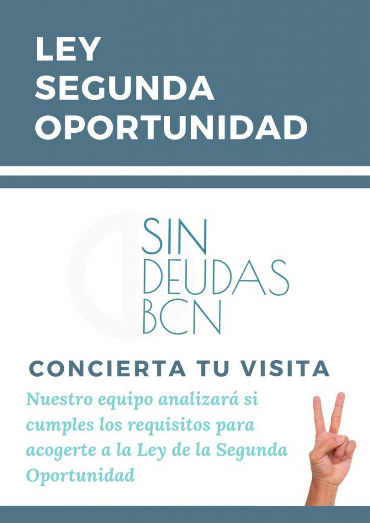 CITA PREVIA SIN DEUDAS BCN LEY SEGUNDA OPORTUNIDAD